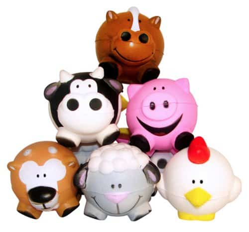 Fun Express Farm Animal Relaxable Balls